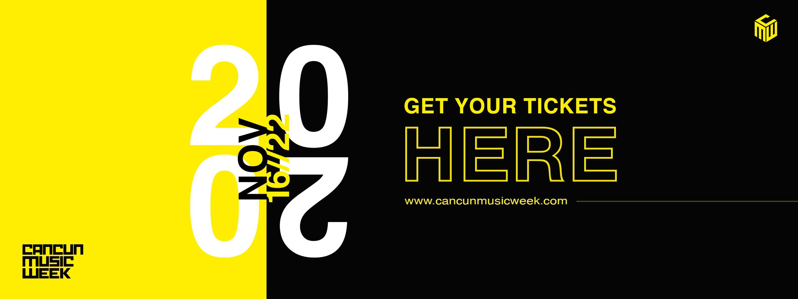 Cancun Music Week Banner